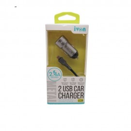 IVON Dual USB 2.4 Car Charger Kit