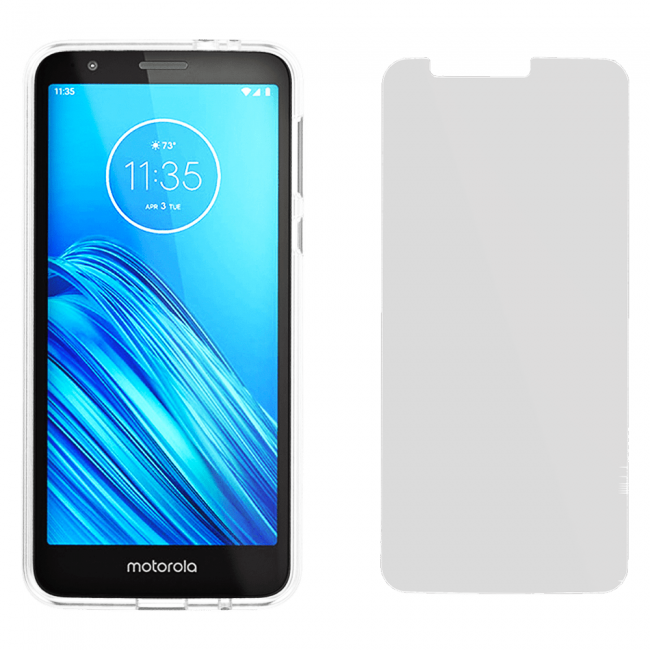 Case-Mate Protection Pack Clear Case for Moto E6
