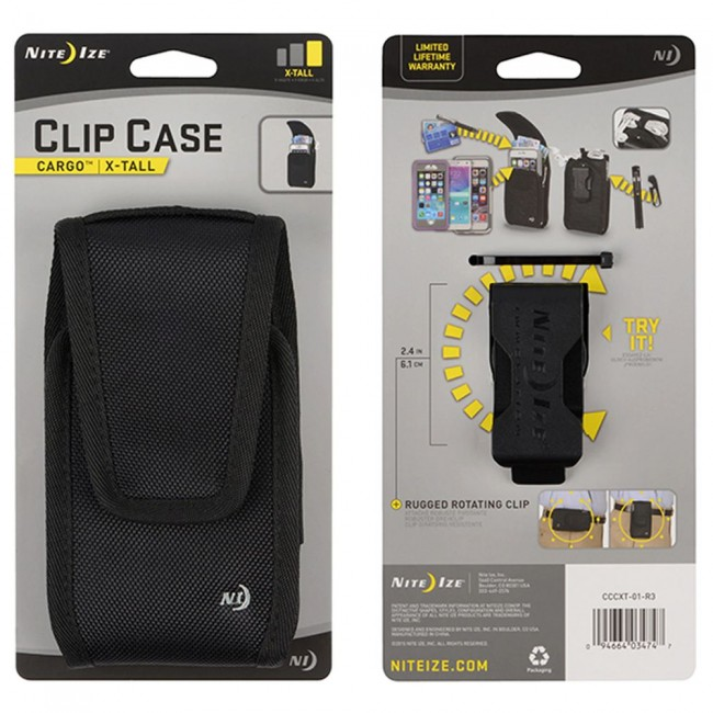 Nite Ize Clip Case Cargo Universal Rugged Holsters - Extra Tall