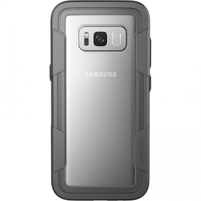 Pelican Voyager Samsung Galaxy S8 Case- Clear/Grey