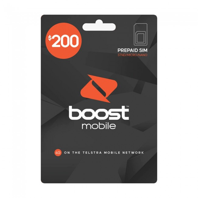 Boost Mobile Pre-Paid $200 SIM