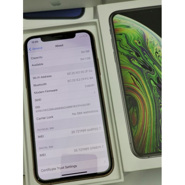 Apple iPhone XS 64GB No Face ID Gold Mint Condition